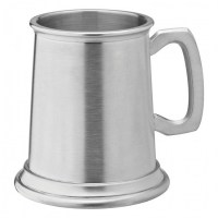 Albany Brushed Pewter Beer Tankard 10oz / HALF PINT / 28cl