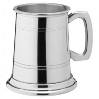 Albany Polished Pewter Tankard 10oz / HALF PINT / 28cl