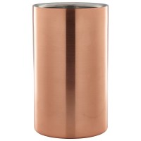 Copper finish wine bottle cooler
