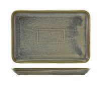 Matt Grey Terra Porcelain Rectangular Platter