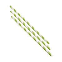 GREEN STRIPE Drinking Straw 20cm / 8inch