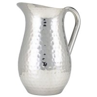 Water Jug Hammered Stainless Steel