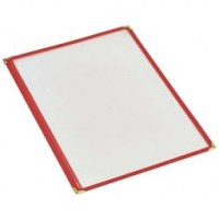 A4 RED American Style Menu Holder 2 Page Facing