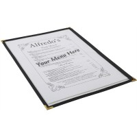 A4 American Style Menu Holder 2 Page Facing