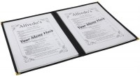 A4 American Style Menu Holder 4 Page Facing