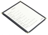 A5 American Style Menu Holder 2 Page Facing