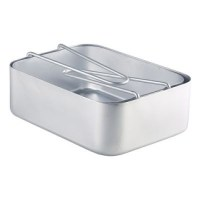 Set of 2 Aluminium Mess Trays