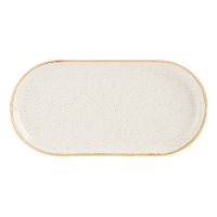 Oatmeal Porcelite Seasons Narrow Oval Plate