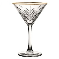 Timeless Vintage Gold Martini Glasses 8oz / 23cl