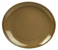 Rustic Stoneware Oval Plate in BROWN