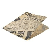 Brown Newspaper Print Presentation Bag