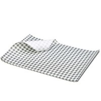 BLACK Gingham Print Greaseproof Paper Sheet