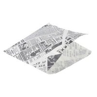 White Newspaper Print Presentation Bag