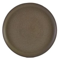 Rustic Stoneware Round Pizza Plate in ANTIGO GREY