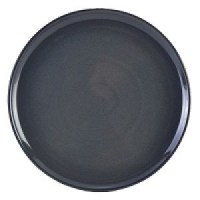 Rustic Stoneware Round Pizza Plate in BLUE