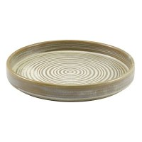 Matt Grey Terra Porcelain Presentation Plate