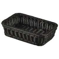 1/4 GN Rectangular Polywicker Display Basket