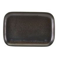 Black Terra Porcelain Rectangular Plate