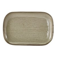 Grey Terra Porcelain Rectangular Plate