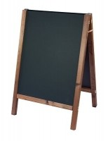 Sandwich A-Board with REVERSIBLE Square Top Chalk Boards
