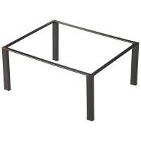 1/3GN Black Metal Frame Buffet Riser