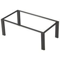 Black Metal Frame Buffet Riser