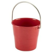 4.5cm Red Stainless Steel Serving - Sauce Bucket