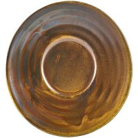 Copper Terra Porcelain Saucer