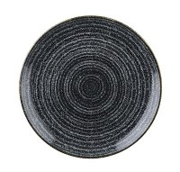 Churchill Charcoal Black Homespun Plate