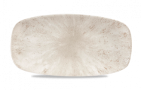 Churchill Stone Agate Grey Chefs Oblong Plate