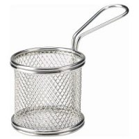 Stainless Steel Round Serving Basket
