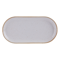 Stone Porcelite Seasons Narrow Oval Plate