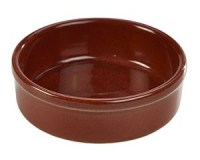 Rustic Stoneware Tapas Dish in RED