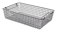1/1 Gastronorm Black Rectangular Wire Basket
