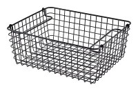 1/2 Gastronorm Black Rectangular Wire Basket