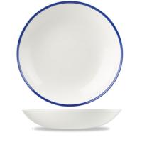 24.8cm Churchill Retro Blue Coupe Bowl