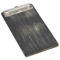 Black Wooden Menu Clipboard