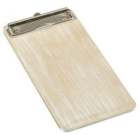 White Wash Wooden Menu Clipboard