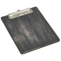 A5 Black Wooden Menu Clipboard