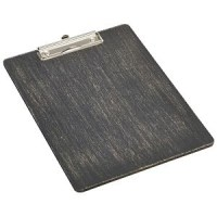 A4 Black Wooden Menu Clipboard