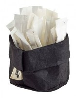 Black Washable Paper Bread Bag