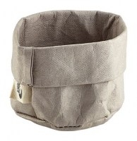 Grey Washable Paper Bread Bag
