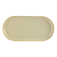 Wheat Porcelite Seasons Narrow Oval Plate