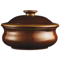 Individual Stewpot & Lid in Rustics Simmer Brown