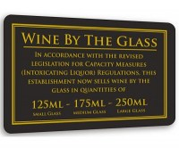 Wine By The Glass Mwasure Sign 125-175-250ml