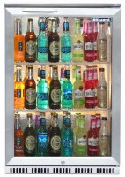 Single Back Bar Cooler with Stainless Steel Front Cabinet