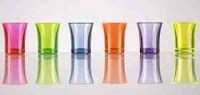 Reusable Plastic Shot Glass NEON COLOURS 25ml