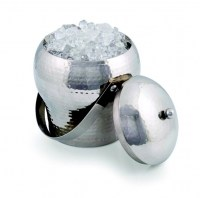 Taille Stainless Steel Ice Bucket with Hammered Finish