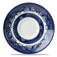 Churchill Blue Willow Georgian Saucer