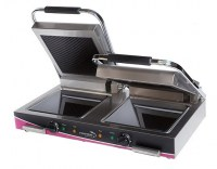 Wipe Clean Double Ceramic Ribbed Contact - Panini Grill